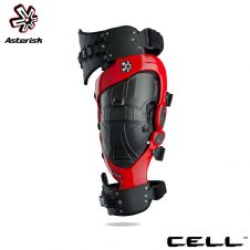 Asterisk Cell Knee Protection System Adult (Red) Pair